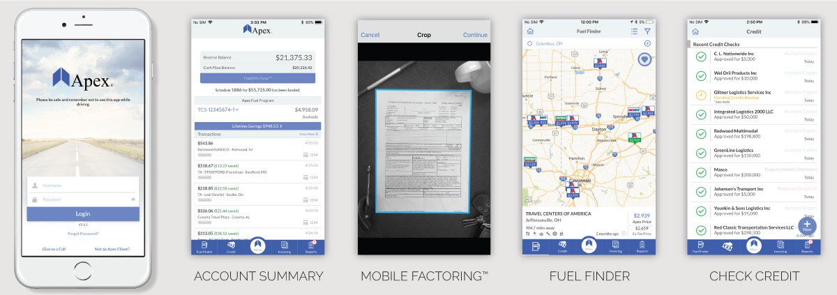 Apex Mobile Factoring App for Truckers