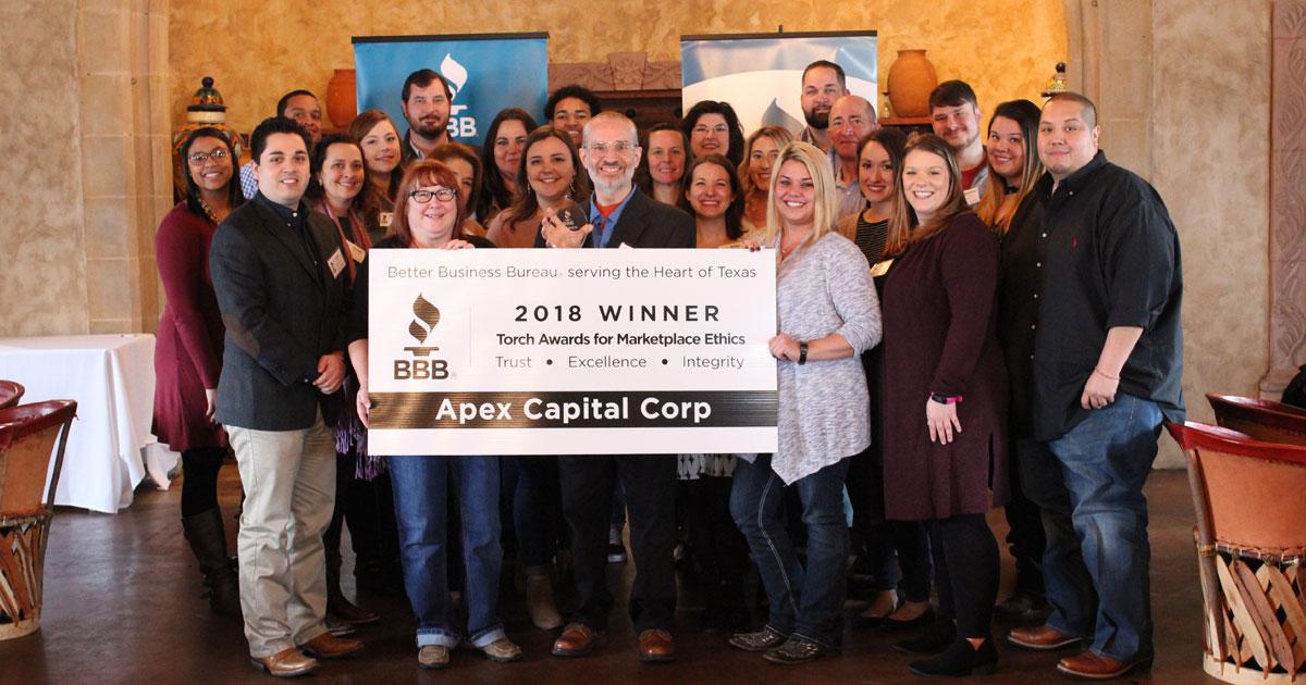 d0dff93d2b4 Apex Receives BBB 2018 Torch Award