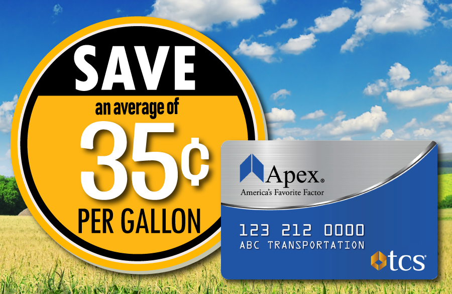 Save 35 cents at the pump with the Apex fuel card