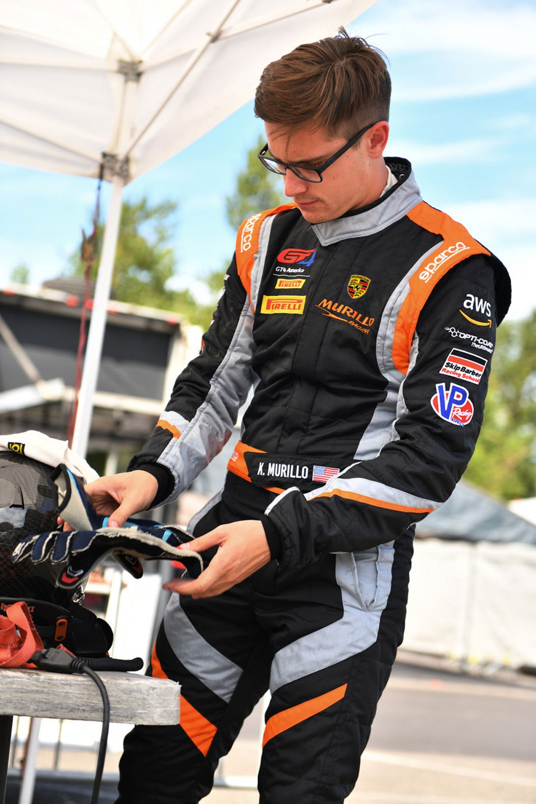 Kenny Murillo will be driving the Apex Capital Porsche