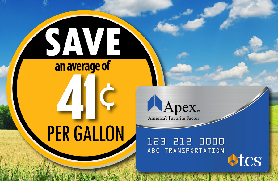 Save 41 cents at the pump with the Apex fuel card