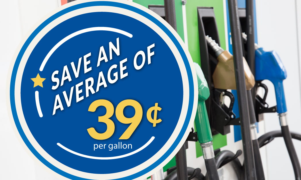 Save 39 cents at the pump with the Apex fuel card
