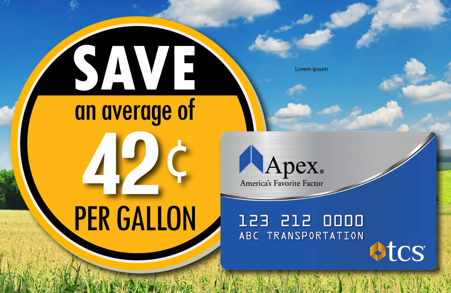Save 42 cents at the pump with the Apex fuel card